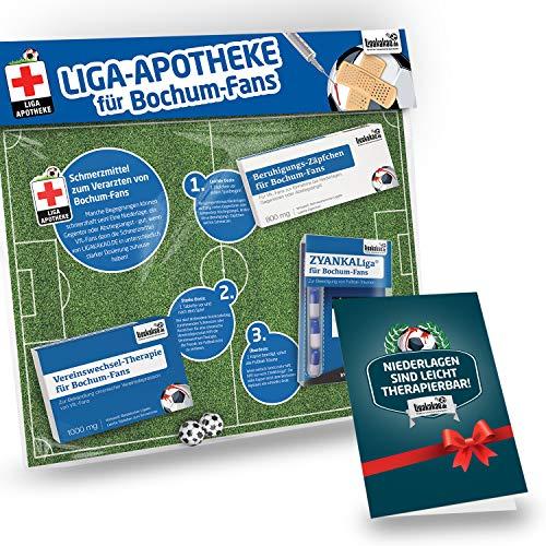 Geschenk-Set: Die Liga-Apotheke für VFL Bochum-Fans | 3X süße Schmerzmittel für Bochum Fans | Die besten Fanartikel der Liga, Besser als Trikot, Home Away, Saison 18/19 Jersey