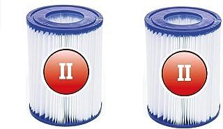 BBUY Cartucho de filtro para piscina tamaño 2, elemento de filtro tipo II adecuado para piscina familiar Bestway 530/800 gal/h (2 unidades)