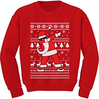 Tstars Dabbing Santa Funny Ugly Christmas Party Youth Kids Sweatshirt