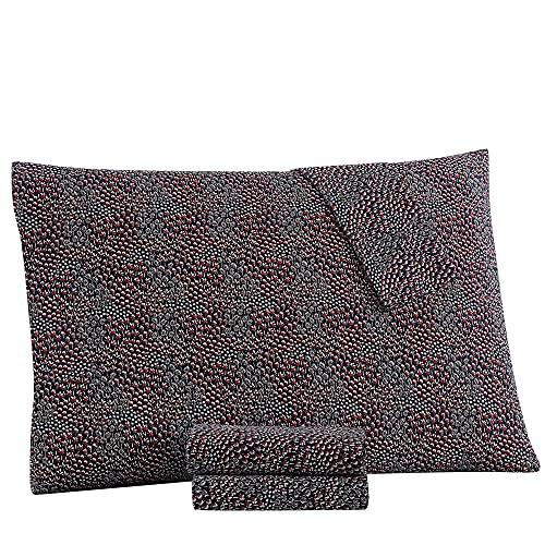 Tommy Hilfiger Field - Juego de sábanas de Flores, tamaño Individual XL, Color Negro