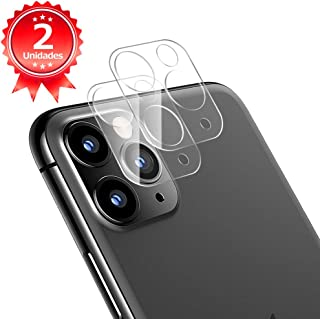 G-Color Protector Cámara/Cámara Trasera Lente iPhone 11 Pro/Pro MAX [2 Unidades] [Alta definición] [2.5D 0.2mm] [9H de Dureza] Cristal Vidrio Templado para iPhone 11 Pro/Pro MAX