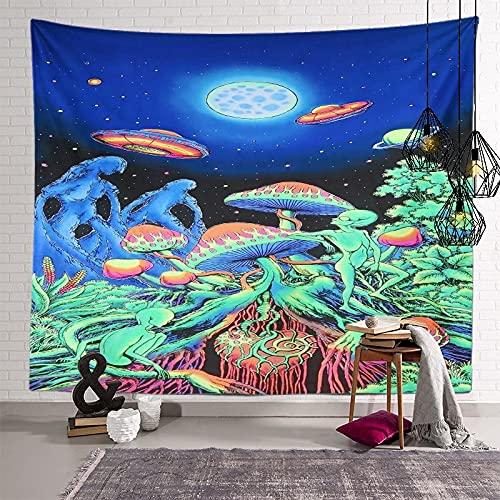 KHKJ Tapiz de Mandala de Hongos, cabecero de Pared, Colcha de Arte, Tapiz de Dormitorio para Sala de Estar, Dormitorio, decoración del hogar A2 200x150cm