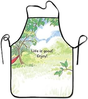 Life Is Good Designエプロン女性男性シェフホームバーバーキッチンガーデニング 72 X 52 CM