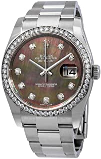 Datejust Black Mother of Pearl Diamond Dial Automatic Ladies Oyster Watch 116244BMDO