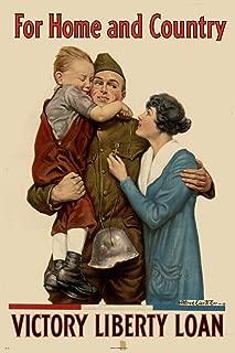 WPA War Propaganda for Home and Country Victory Liberty Loan Cool Wall Decor Art Print Poster 13x19