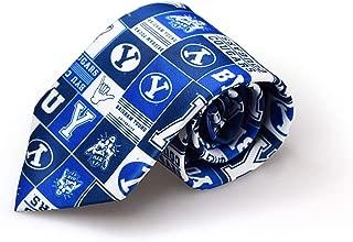 NCAA BYU Cougars Logo Pattern Mens Tie Fan Frenzy Gifts