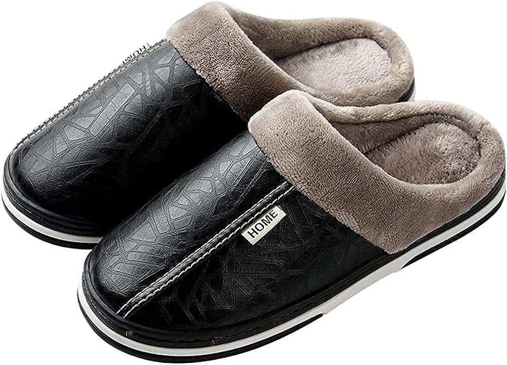 Mens Womens Winter Slippers Waterproof