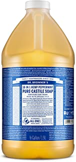 Dr. Bronner's - Pure-Castile Liquid Soap (Peppermint, 64 ounce) - Made with Organic Oils, 18-in-1 Uses: Face, Body, Hair, ...