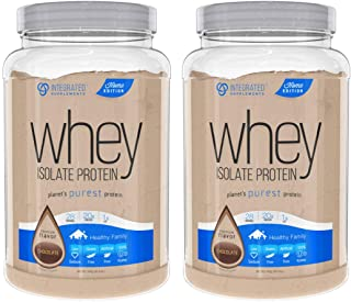 Integrated Supplements Whey Isolate Protein, Premium Flavor Chocolate, 2 Count