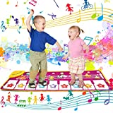 VIBIRIT Kinder Klaviermatte, Musikmatte Spieldecke Tanzmatten Touch Musical Teppich für Babys Kleinkind Jungen und Mädchen Geschenk