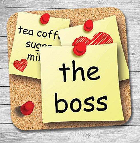 Funny/lustiges Geschenk Büro Banter Tee/Kaffee Untersetzer (The Boss)