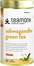 Teamonk Ashwagandha Tea for Immunity, Stress & Anxiety Relief | Green Tea Leaves with Ashwagandha, Tulsi, Cinnamon and Fen...