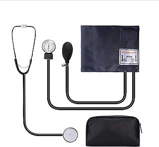summersummer Monitor de Tensión Arterial, Manguito de medición de la presión Arterial Manual con Las Medidas en casa Estetoscopio Brazo para