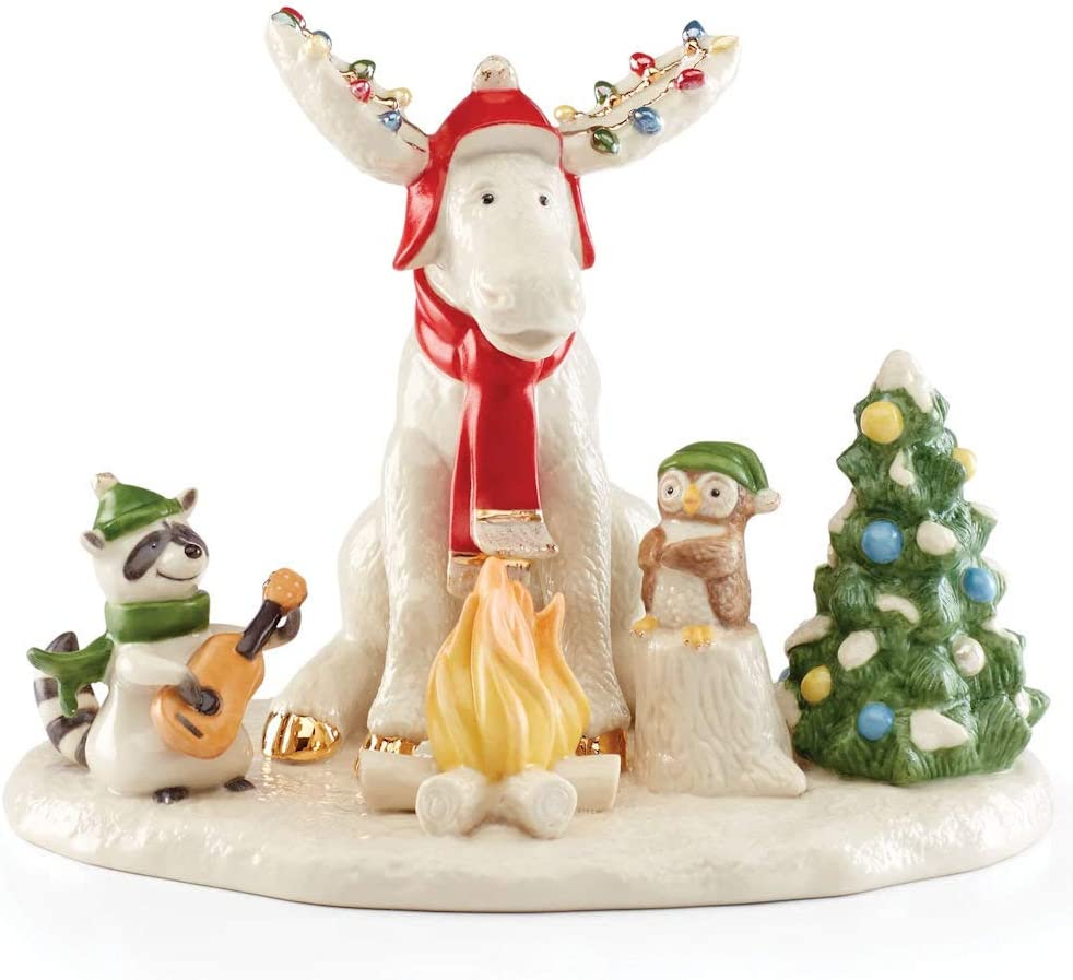 Lenox 2020 Merry Marcel & Forest Friends Figurine, 1.85 LB, Multi