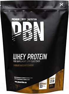 PBN - Proteína de suero de leche en polvo, 1 kg (sabor chocolate con avellanas)