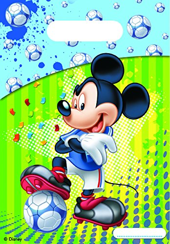 Disney Micky Maus Fußball Partytüten, 6Stück