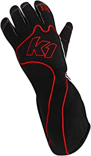 K1 Race Gear RS1 Reverse Stitch Kart Racing Gloves (Red/Black, Large) - 13-RS1-R-L