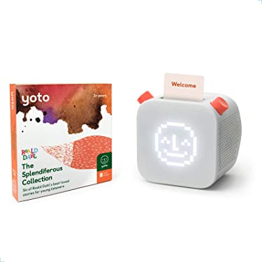 Yoto Player – Kids Audio Player & 6 Cards Roald Dahl Splendiferous Collection| Speaker Plays Content Cards with Bestselling Audiobooks & More| Includes Sleep Trainer, Clock, Nightlight All-in-One