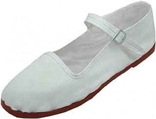أحذية نسائية من القطن ماري جاين أحذية راقصة الباليه المسطحة من إيمونا