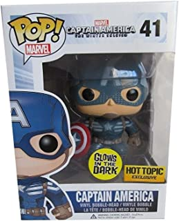 Funko Pop! Marvel Captain America Rare Exclusive, Glow-in-the-Dark Vinyl Figure