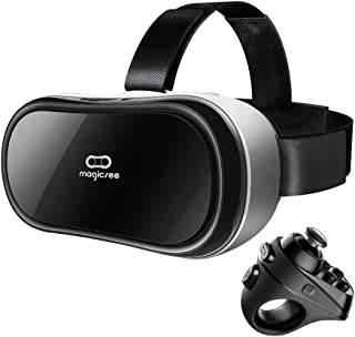 Magicsee M1 VR all in One Virtual Reality Headset 3D VR Glasses PC,Game Android 5.1 HDMI 19201080 HD 2G/16G 360 Viewing Immersive support Wifi 2.4G Bluetooth HDMI TF Card with R1 Controller