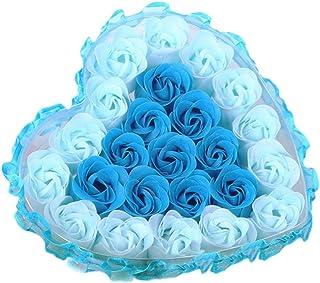 (ノタラス)Notalas <ローズ>石鹸の花 花束 造花 母の日・結婚祝い ・記念日・ホワイトデー・送別・誕生日・祝い・卒業・退職・敬老の日 贈り物・ギフト・プレゼント 24本の花 Flower Soap (ブルー)