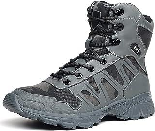 TAOBEGJ Bottes Tactiques pour Hommes Chaussures De Course en Plein Air Légères Bottes De L'armée Militaire Botte De Combat...