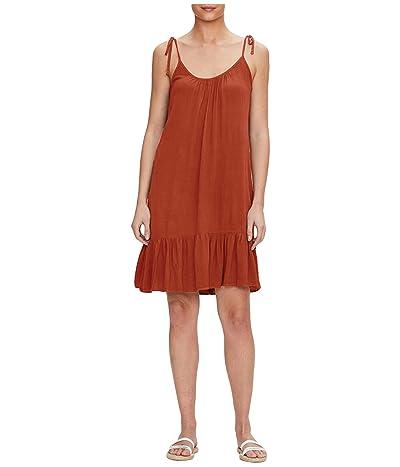Michael Stars Della Spaghetti Tie Dress w/ Peplm in Lemoore Crepe Rayon (Red Clay) Women