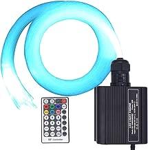 Led Fiber Optic Light Kit, 16W RGBW Light Engine and 150 Strands 0.75mm 2m Optical Fiber Cable RF Remote Star Ceiling Lights