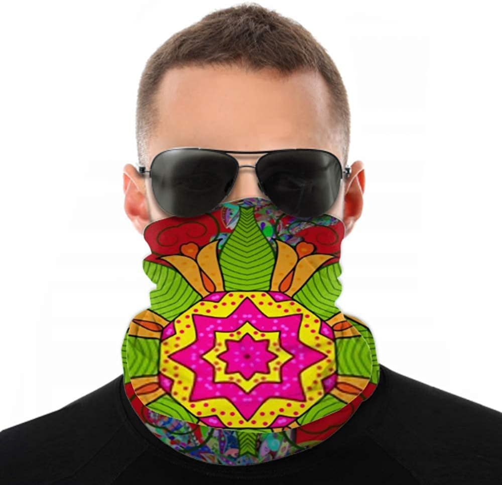 Headbands For Men Women Neck Gaiter, Face Mask, Headband, Scarf Colored Mandalas Element Vector Illustration Red Turban Multi Scarf Double Sided Print Headband For Women For Sport Outdoor