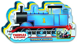 Ravensburger Thomas & Friends: Thomas & Ashima in Train Shaped Box Floor Puzzle 24 Piece Jigsaw Puzzle for Kids – Every Pi...