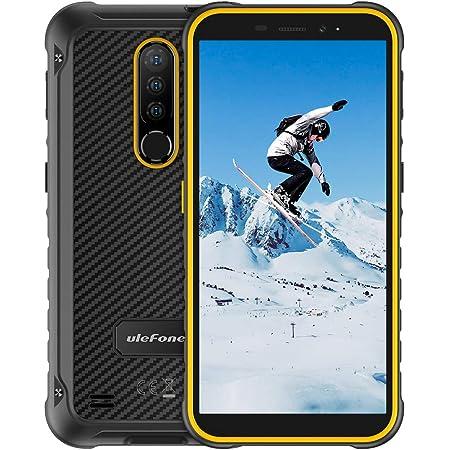 "Móvil Resistente, Ulefone Armor X8 Android 10 Smartphone 4G con Cámara Triple 13MP+8MP, MT6762 Octa-Core, 64GB+4GB (SD 256GB), Batería 5080mAh, 5.7"" HD+ Telefono Movil Antigolpes, NFC/GPS,Naranja"