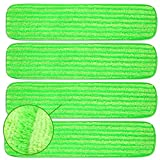 Microfiber Mop Pads 4 Pack - Reusable Washable Cloth Mop Head Replacements Best Thick Spra...