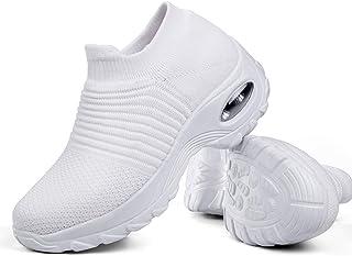 26547072b Women s Walking Shoes Sock Sneakers - Mesh Slip On Air Cushion Lady Girls  Modern Jazz Dance