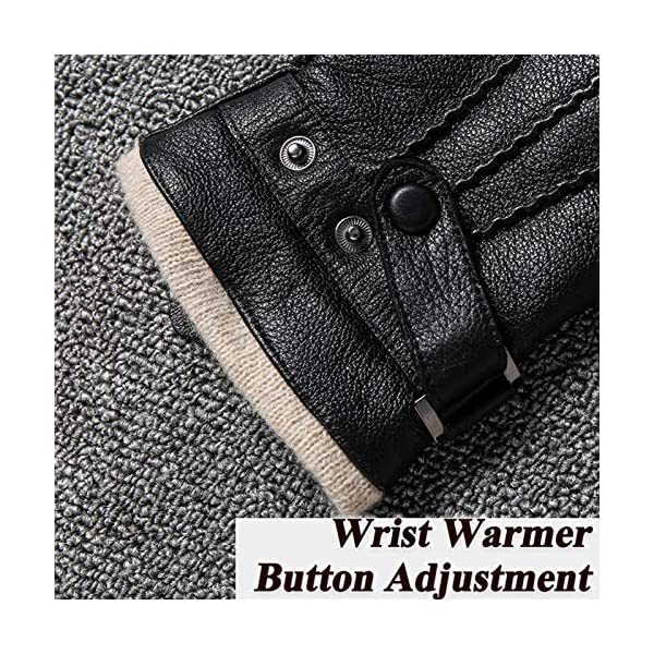 Acdyion Touchscreen Men's Genuine Leather Gloves 4