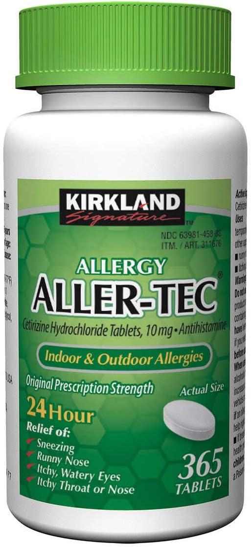 Kirkland Signature Aller-tec 10mg Tablets ct 5 ☆ very New mail order popular - 365 3 pk