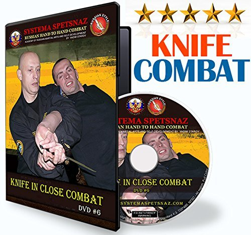 HAND TO HAND COMBAT TRAINING DVD - KNIFE SELF-DEFENSE TECHNIQUES by Russian Martial Arts Systema Spetsnaz Training, Instructional Martial Art Video in English, Street Self Defense Training DVD