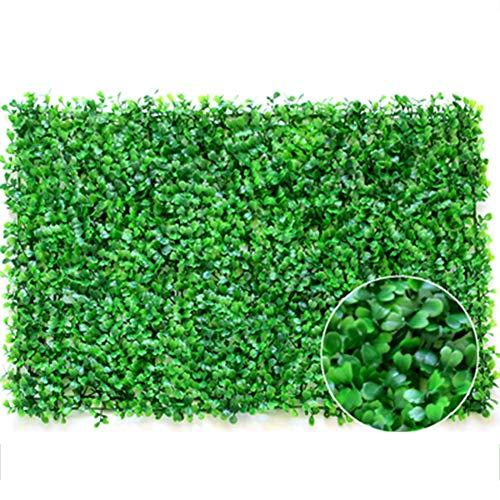 XIAOLIN - Encriptación engrosamiento verde césped artificial telón de fondo para decoración de plantas de pared para el hogar al aire libre jardín valla 40 x 60 cm (color: 04)