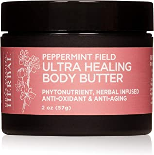 (Peppermint Field, 60ml) - Ultra Healing Body Butter For Very Dry Skin and Stretch Marks, Made With Organic Shea Butter, O...