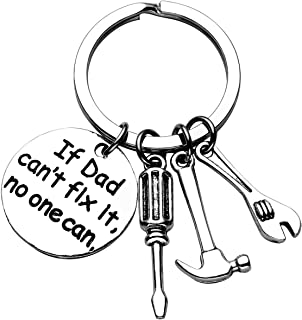 JOVIVI Fathers Day Keychain - If Dad Can't Fix It No One Can Repair Tools Daddy Keychain,Screwdriver/Hammer/Spanner Charm Key Chain Ring Gifts for Dad