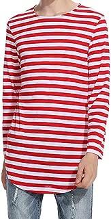 Mens Shirt, Men's Autumn Winter Striped Tops Shirt Long Sleeve Casual T-Shirt Blouse