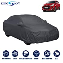 Kingsway Dust Proof Car Body Cover with Mirror Pockets For Hyundai Grand I10 (Model Year : 2017 Onwards) (Grey Matty, Triple Stitched)