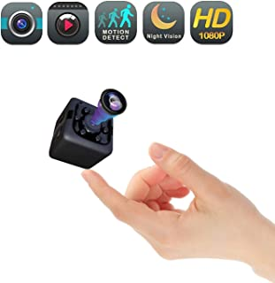 Mini Cam Wireless Covert Spy Camera ,Portable Full HD 1080P Babysitter Cam with Night Vision Video Sound Recording Home 、Car Drone 、Office、Outdoor Animal Dynamics Detection