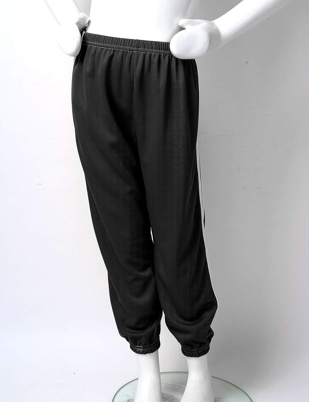 iixpin Unisexe Enfant Sport Pantalon Taille /Élastique Pantalon Bouffant L/éger en Maille Confort Pantalon Large Anti-Moustique C/ôt/é Double Barre /Ét/é Casual 2-10 Ans