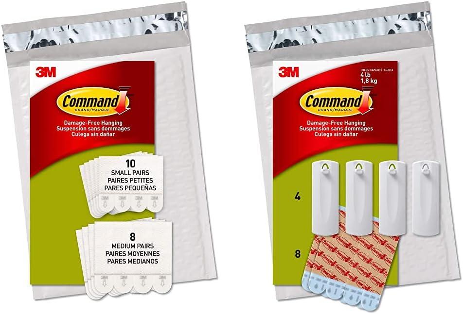 Command Picture Hanging Strips 18 10-Small Award-winning store Overseas parallel import regular item Pairs: 8-Medium Pai