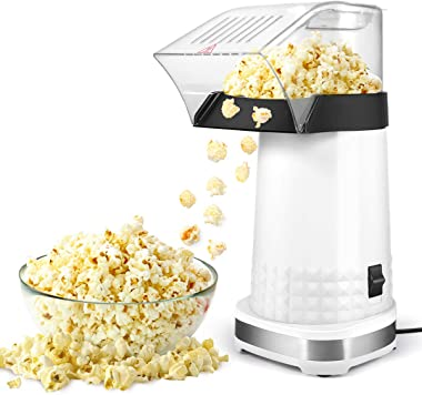 Popcorn Machine,1200W Electric Popcorn Maker with Measuring Cup,BPA Free, Low Fat No Oil Needed Fast Hot Air Popcorn Machine