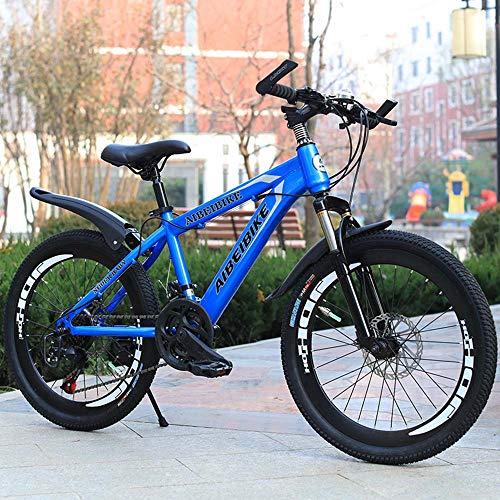 MW Bicicletas, Bicicletas De Montaña, 20/22/24/26 Pulgadas 21 Bicicletas De Velocidad, Camino De La Bicicleta, Hard Tail Bicicleta, Bicicleta Variable Estudiante De Educación Velocidad,Azul,24 Inch