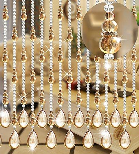 WUFENG Kristall Perlenvorhang Türvorhang Zimmer Tür Fenster Perlen Quaste String Vorhang Perlen Wandpaneel Raumteiler Halb Hängende Vorhänge (Farbe : B, größe : 80 * 180cm)