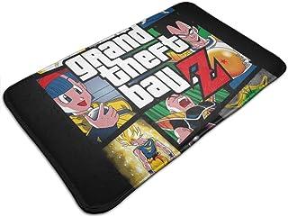HUTTGIGH Grand Theft Ball Z Grand Theft Auto Dragon Ball Z - Felpudo antideslizante para puerta de entrada de baño, cocin...