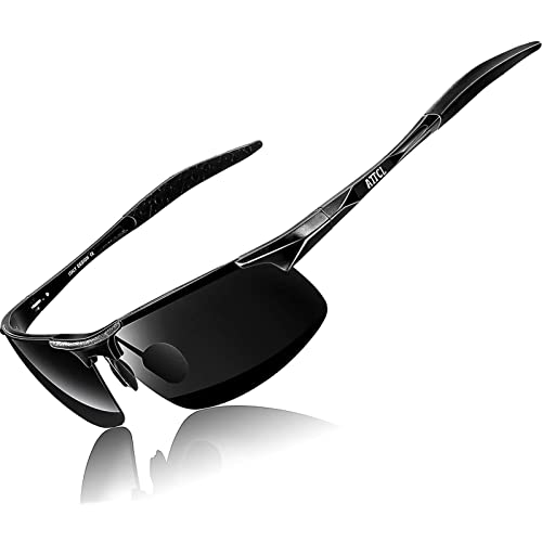 93eb78d900 ATTCL Mens Fashion Driving Polarized Sunglasses Man Al-Mg Metal Frame Ultra  Light